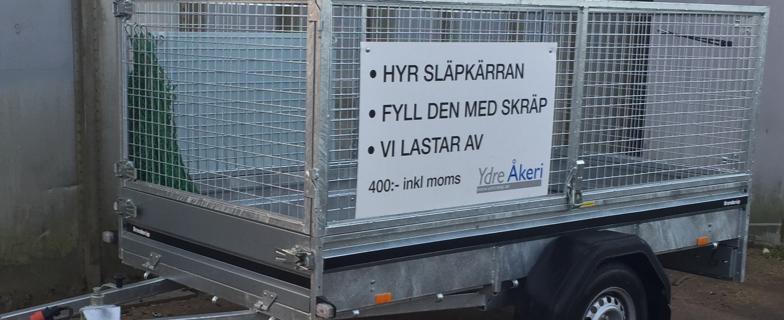 Hyra släpvagn, biltransportkärra i Tranås och Ydre.